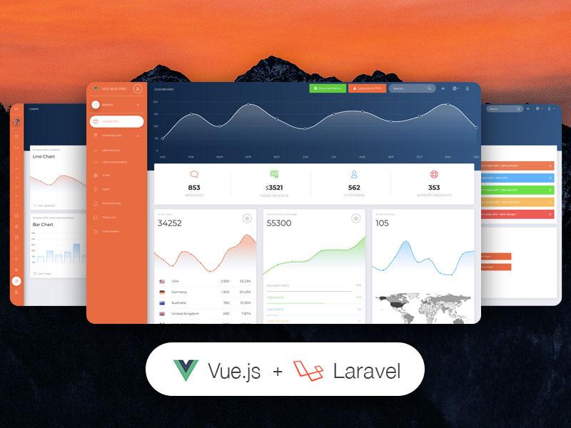 Vue Now UI Dashboard PRO Laravel Image