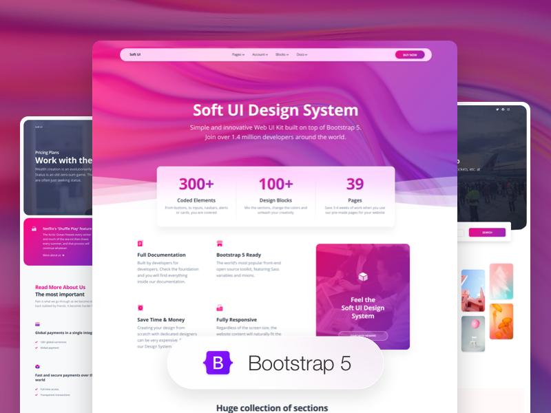Soft UI Design System PRO Image