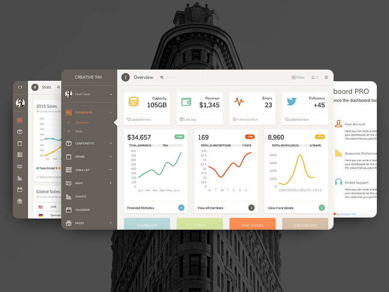 Paper Dashboard Pro Image