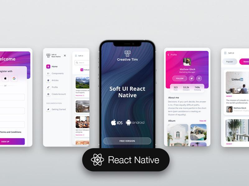 soft ui react native free