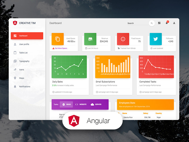 Material Dashboard Angular Image