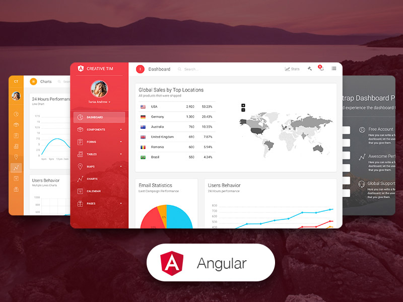 Light Bootstrap Dashboard Pro Angular2 Image