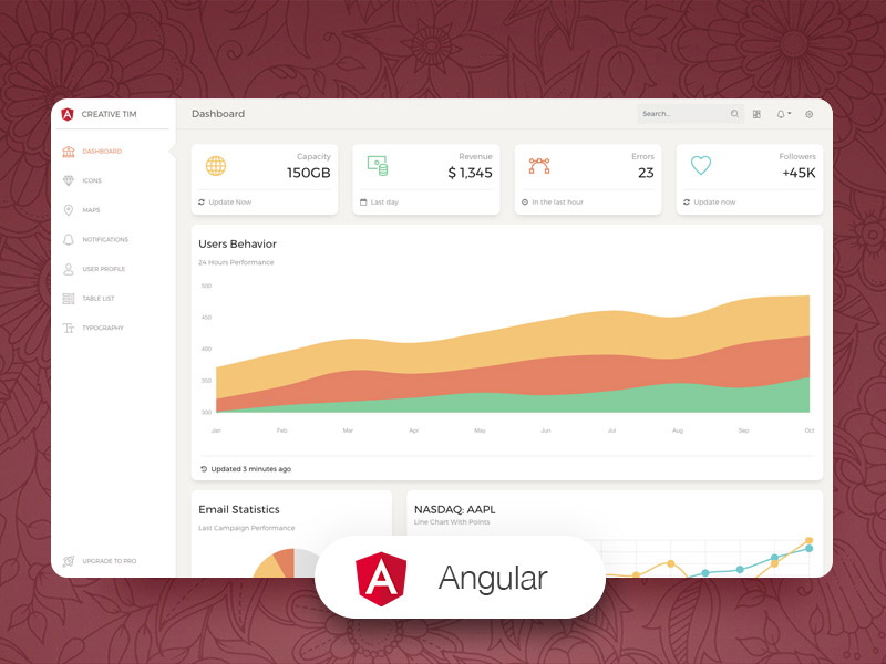 Paper Dashboard Angular Image