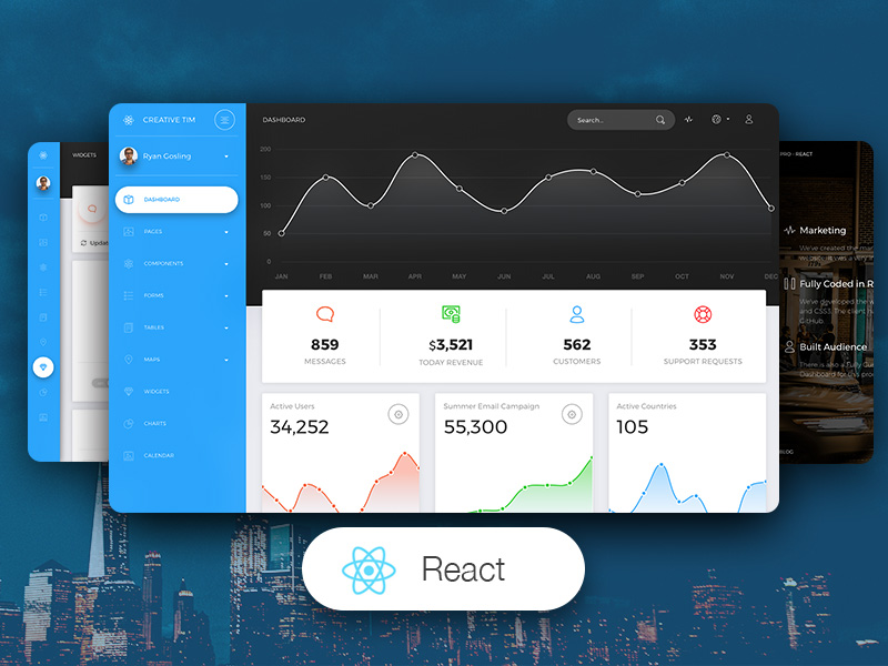 Now UI Dashboard PRO React Image