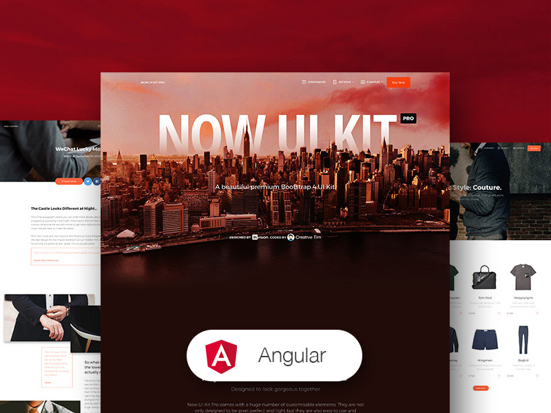 Now UI Kit PRO Angular by Creative Tim