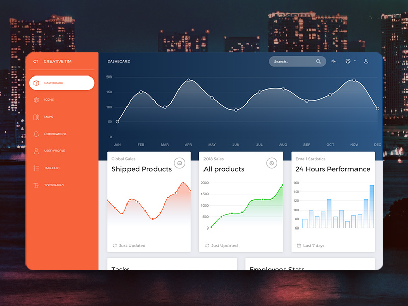 Now UI Dashboard HTML