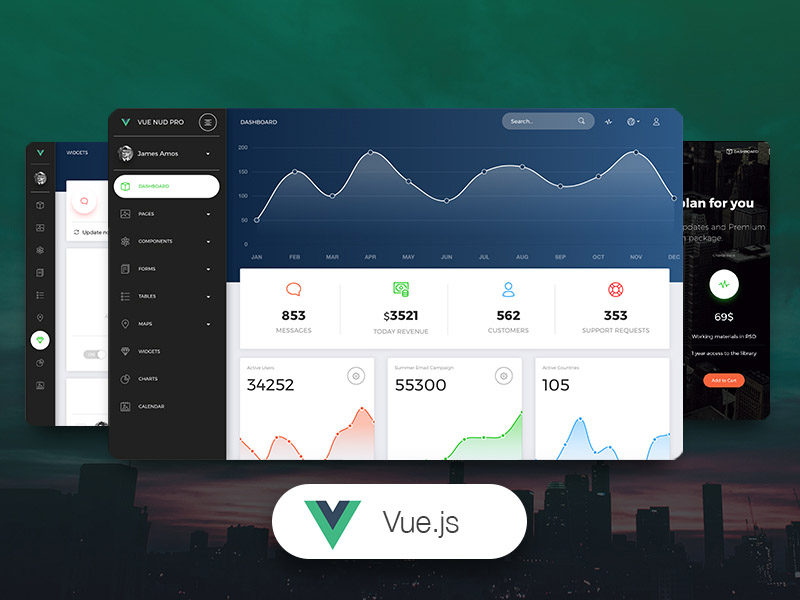 Vue Now UI Dashboard PRO Image