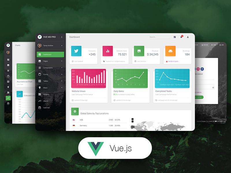 Vue Material Dashboard PRO Image
