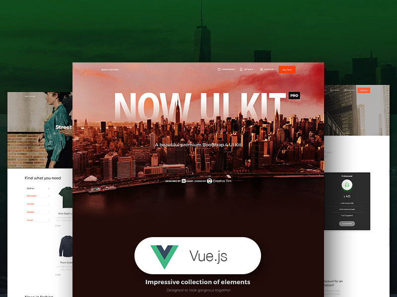 Vue Now UI Kit PRO Image