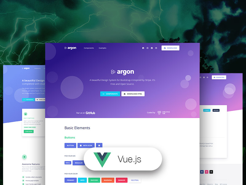 Vue Argon - Free Design System for Bootstrap 4 and Vue js by