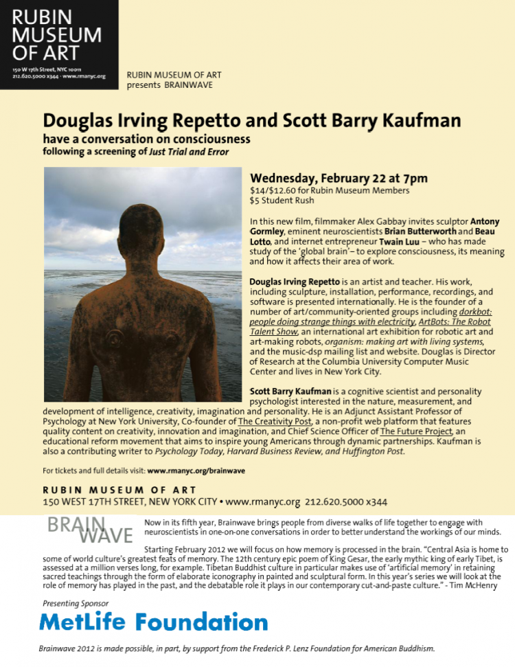 Douglas Irving Repetto and Scott Barry Kaufman Have a Conversation on Consciousness