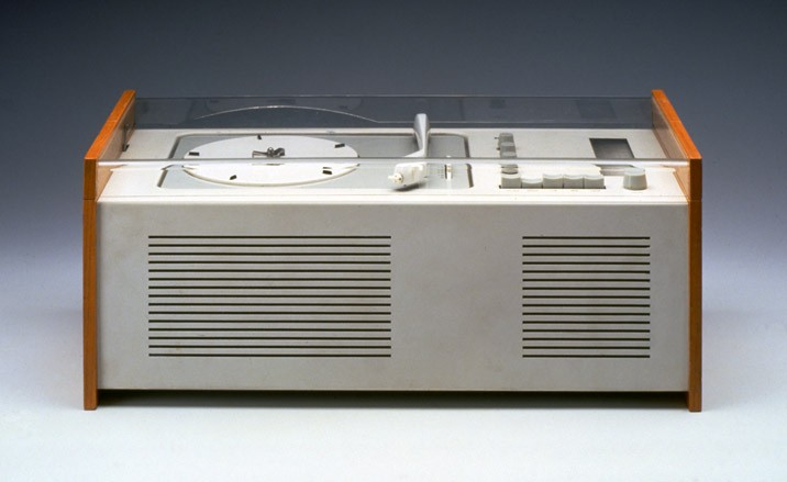 Record player by Rams known as 'Snow Whites Coffin'