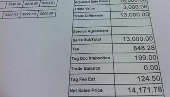 Car Buying Fees