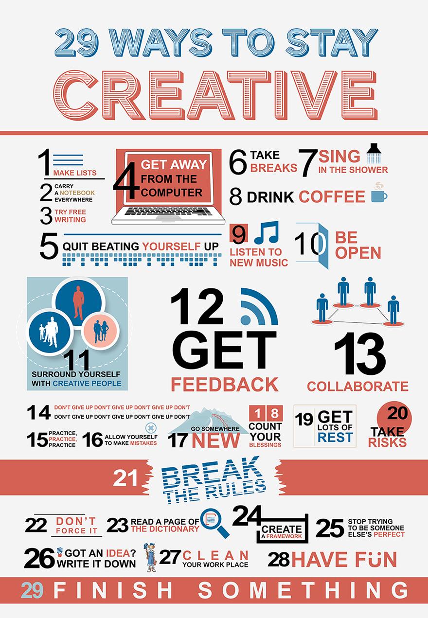 Блог им. admin: 29 Ways to Stay Creative (Infographic)