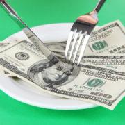 money-on-plate