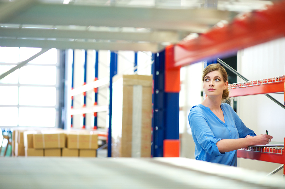 female business owner doing inventory