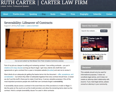 ruth carter law firm blog
