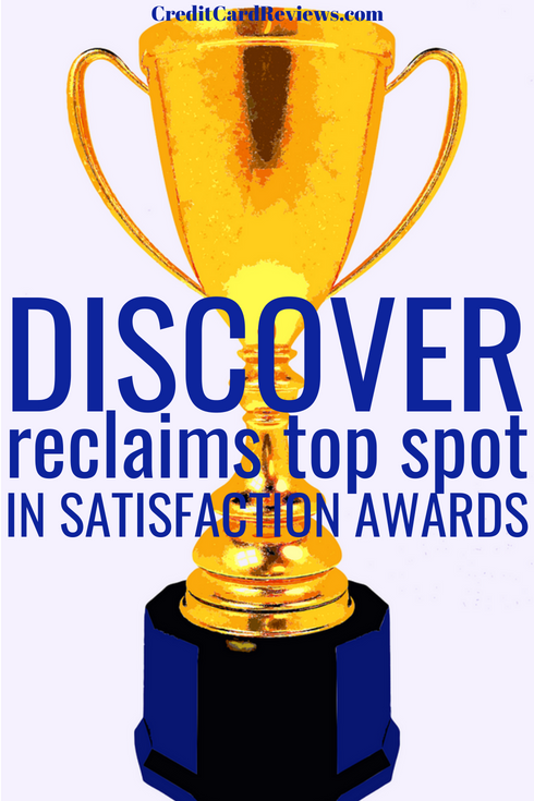 For the last five years, Discover and American Express have been neck and neck for the top spot in one of the most prestigious customer satisfaction awards, the J.D. Power Credit Card Satisfaction Survey. This year, Discover reclaimed first prize.