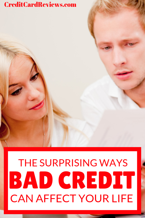 If you have bad credit, there are a few negative things that you typically expect. Here are six surprising effects that your bad credit can have on you, and why they matter.