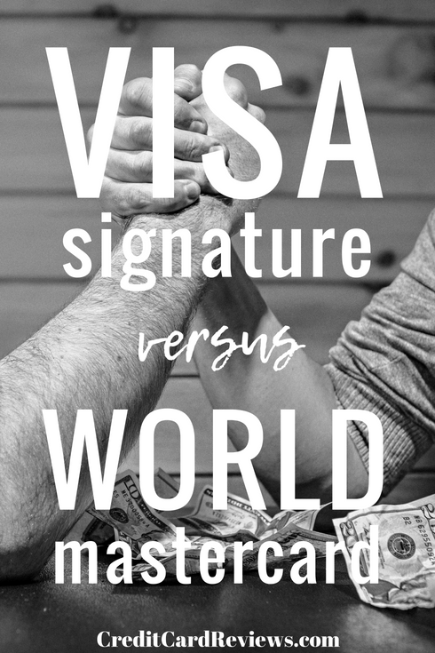 Visa's premier card lineup is the Signature marque, while Mastercard's equivalent is the World card. If you're thinking about opening either one, you should first be aware of what the similarities between the two are, and what differences exist.
