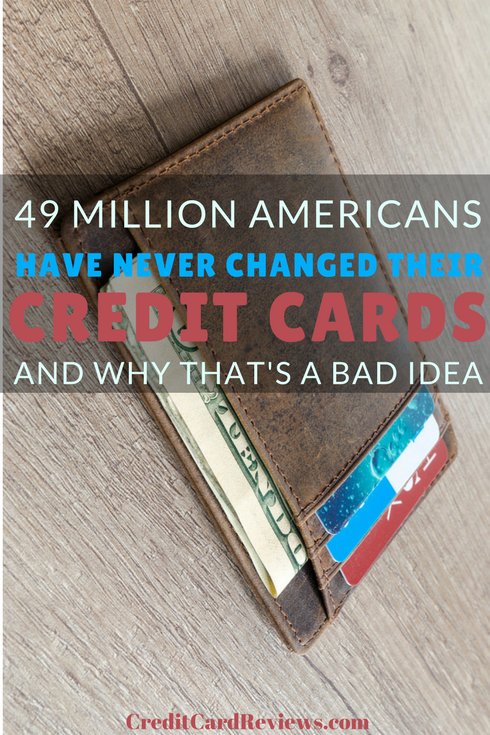 A recent study found that a surprising number of Americans are sticking with their old, trusted credit card, even if it might not be the best product for them. In fact, it was found that 20 million American cardholders last changed their credit card product 10 years ago, and a shocking 49 million of them have never changed the plastic in their wallet.