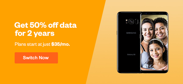 Get 50% off data for 2 years, with plans starting at just $35/mo