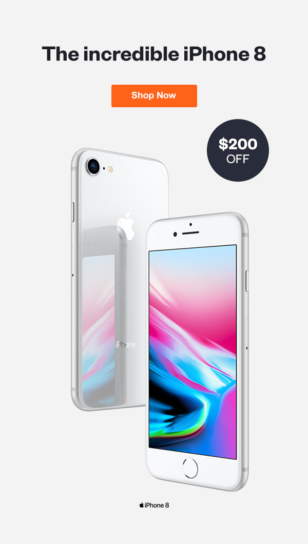 Get the Incredible iPhone 8 for $200 off with this limited time deal.