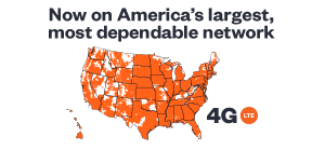 Nationwide coverage on America's largest and most dependable 4G LTE network