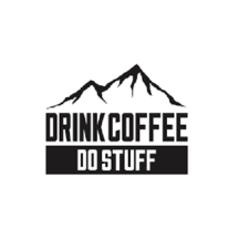 Drink coffee do stuff logo