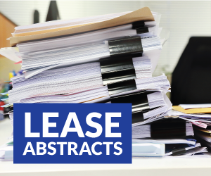 Real Estate Lease Abstracts - Due Diligence Services