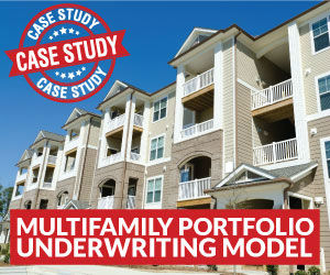 Multifamily Apartments - Portfolio Underwriting Model and Financial Analysis Tool in Microsoft Excel®