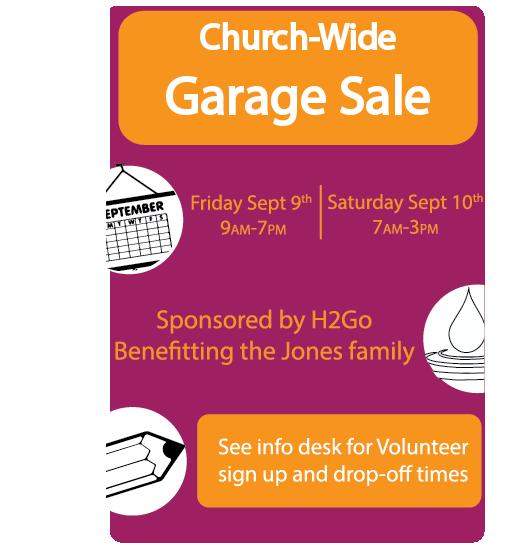 Church Wide Garage Sale – Crestview Bible Church