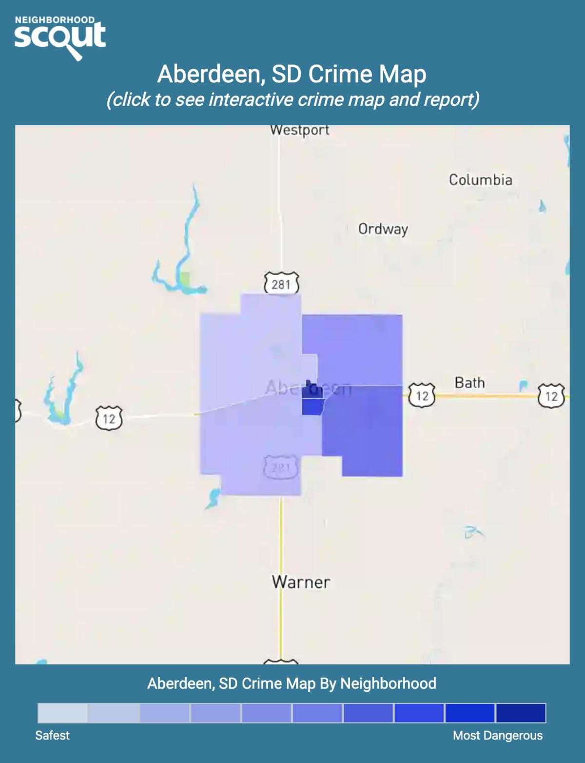 Aberdeen, South Dakota crime map
