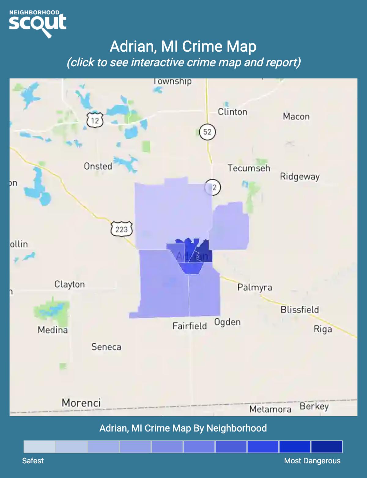 Adrian, Michigan crime map
