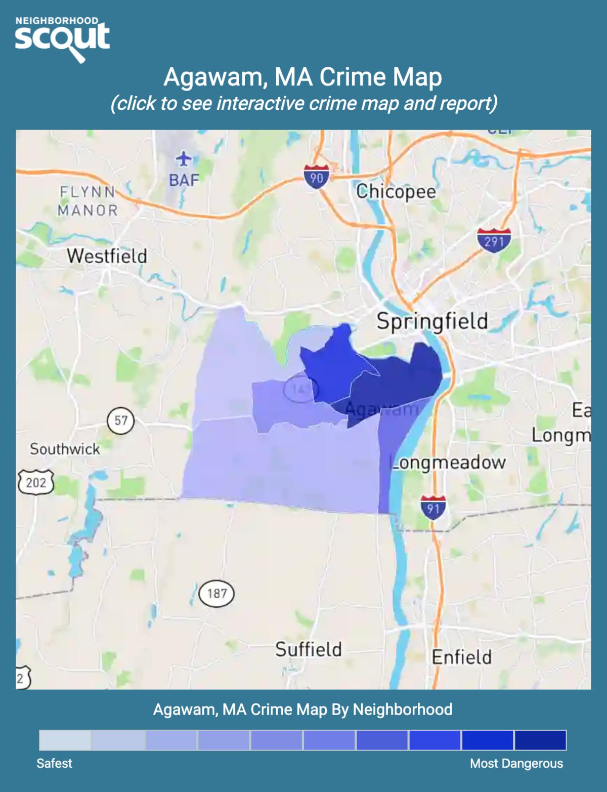 Agawam, Massachusetts crime map
