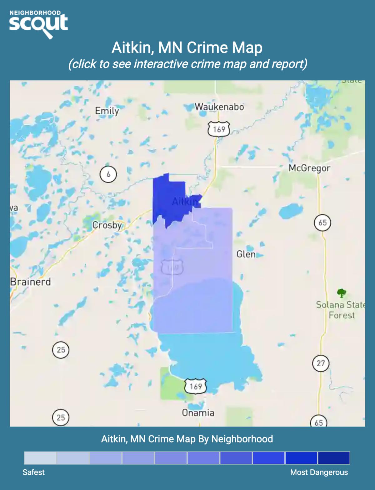 Aitkin, Minnesota crime map