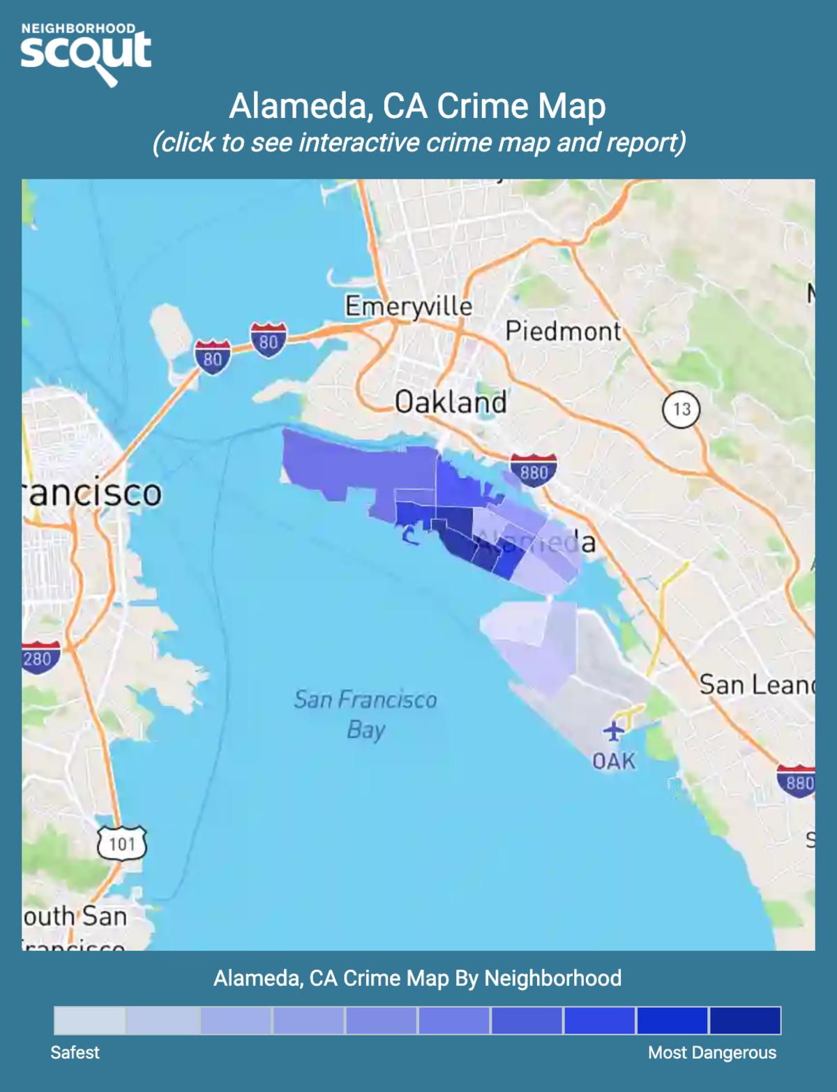 Alameda, California crime map