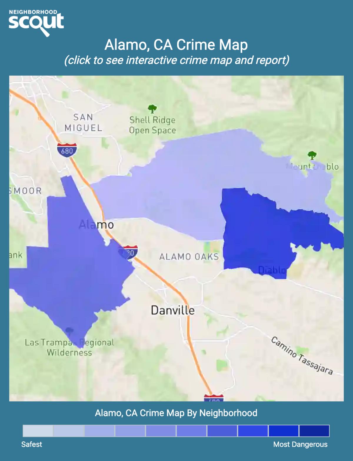 Alamo, California crime map