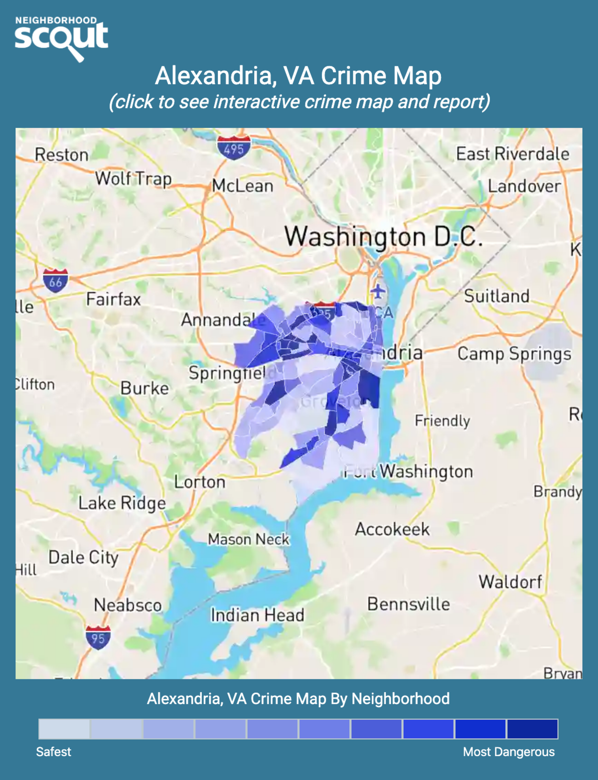 Alexandria, Virginia crime map