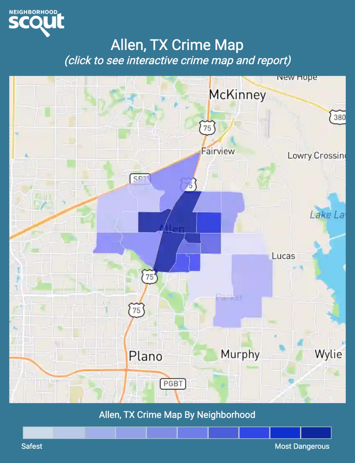 Allen, Texas crime map