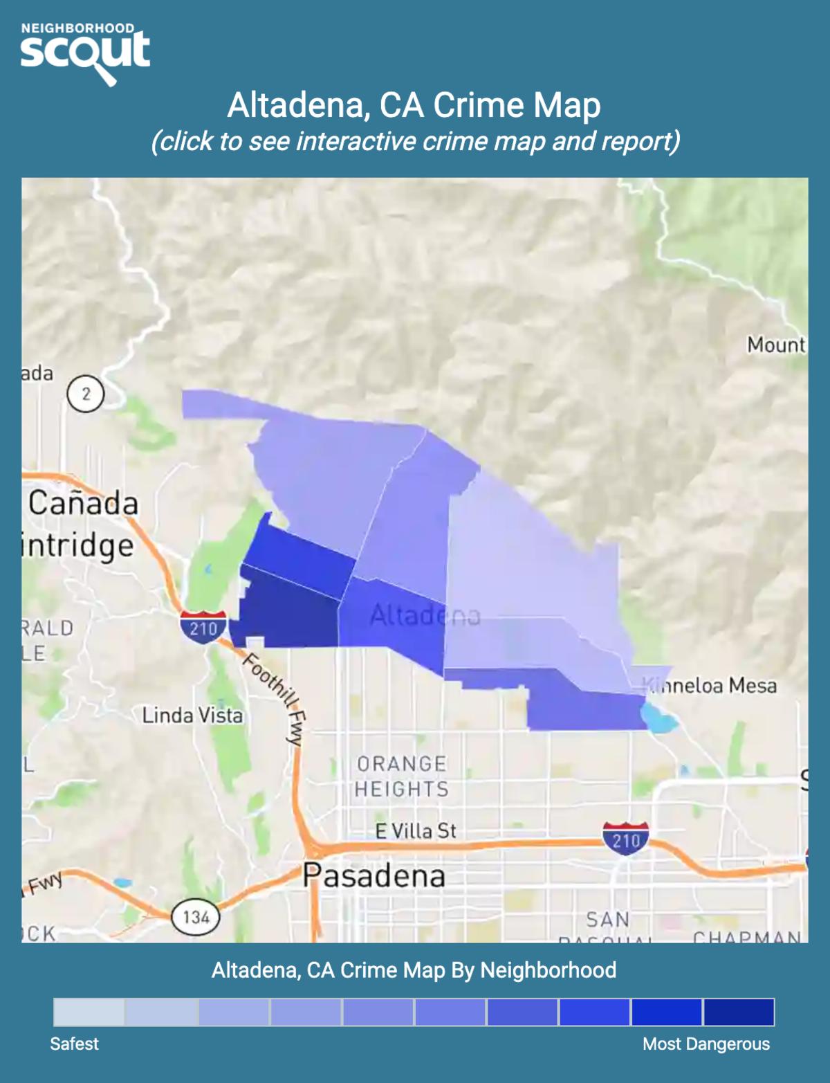Altadena, California crime map