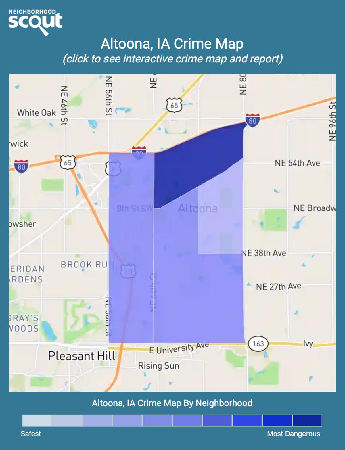 Altoona, Iowa crime map
