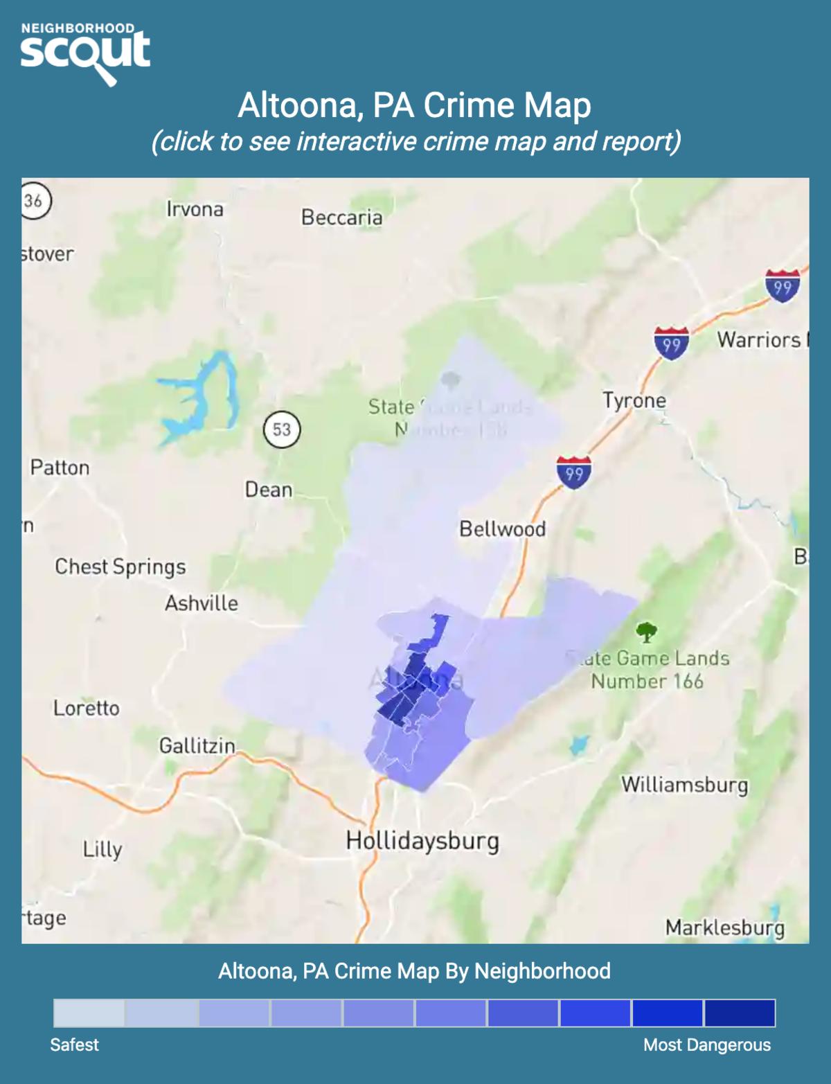 Altoona, Pennsylvania crime map