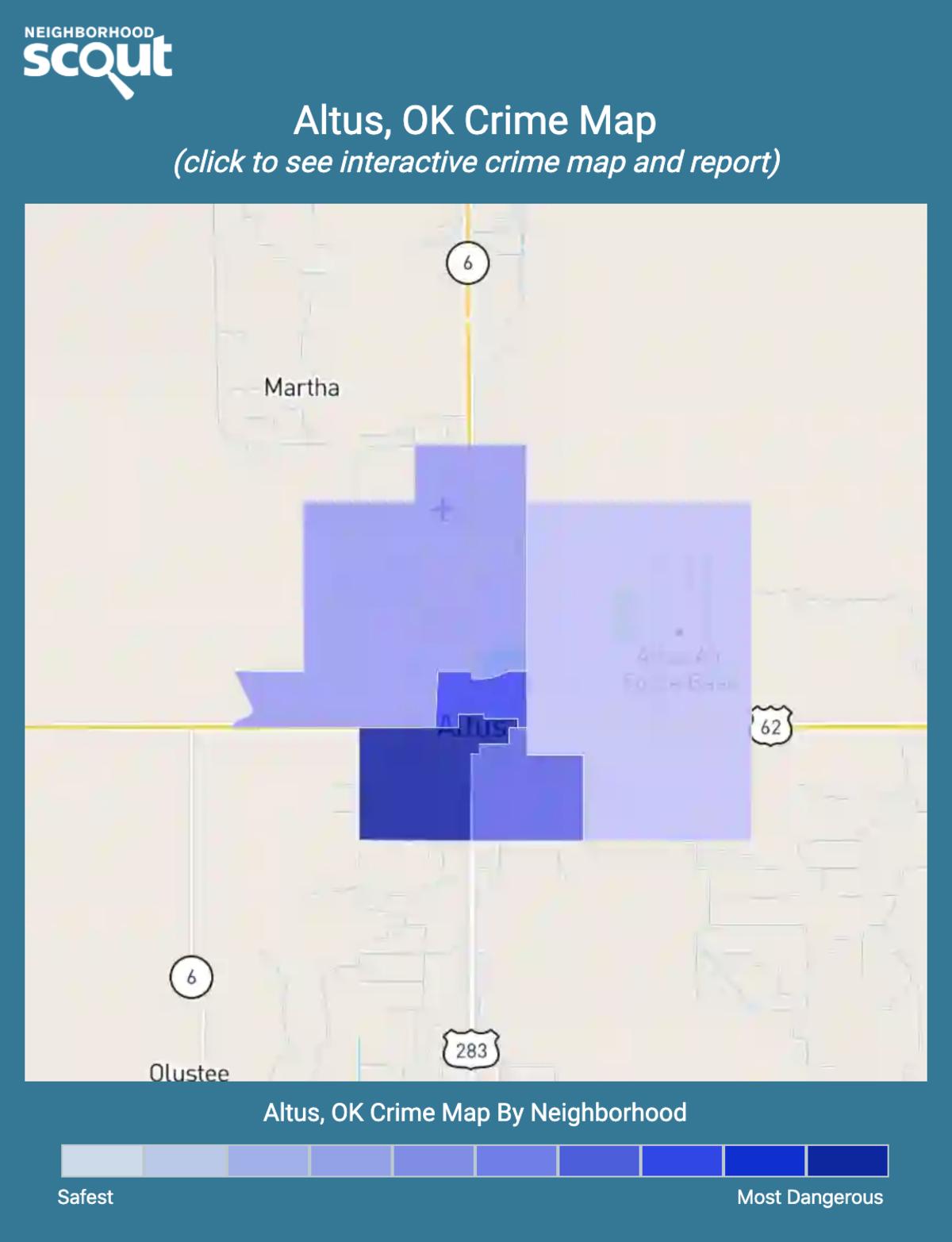 Altus, Oklahoma crime map