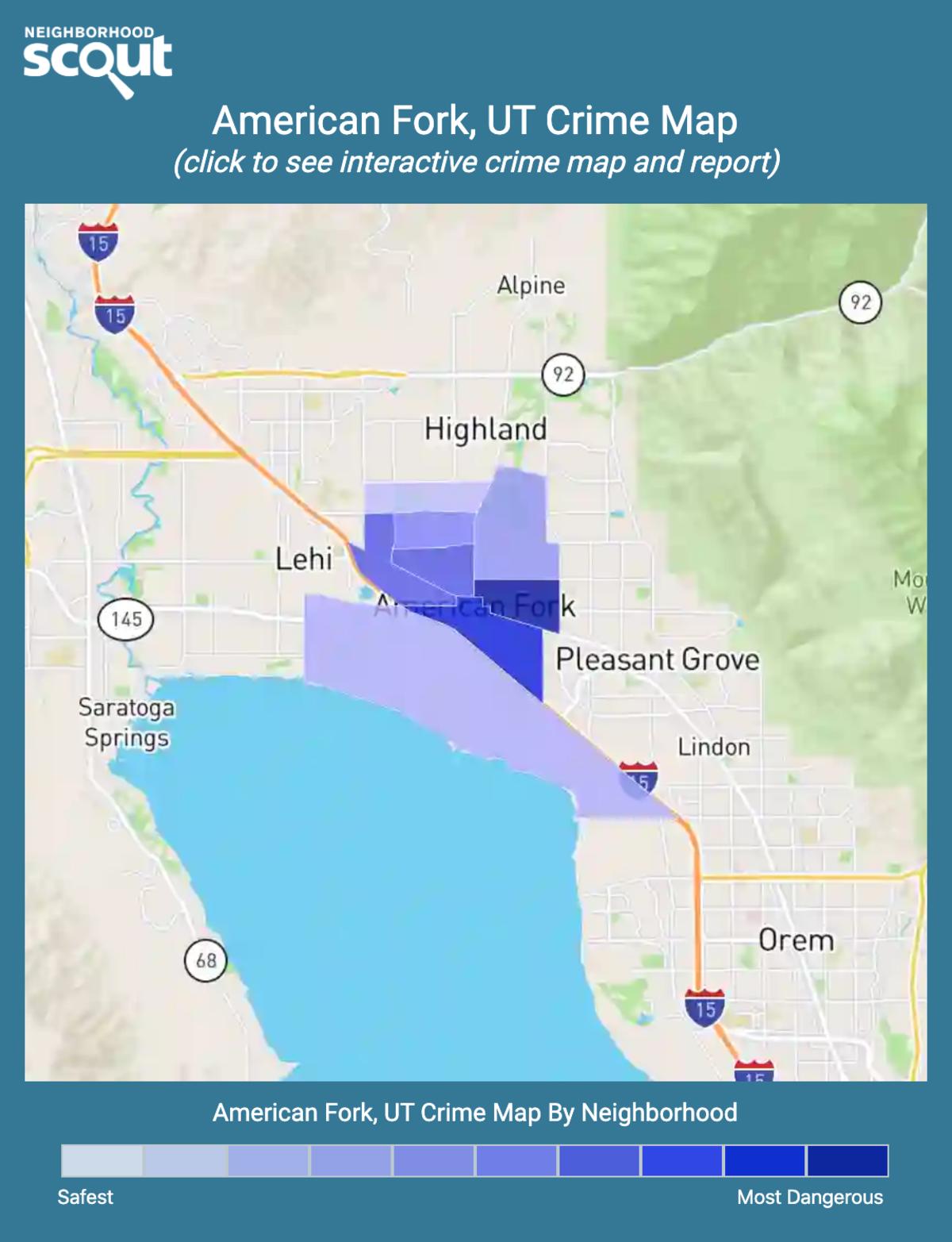 American Fork, Utah crime map