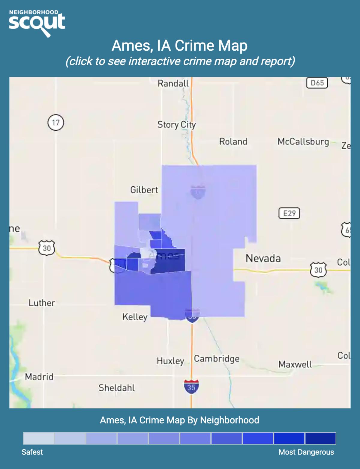 Ames, Iowa crime map