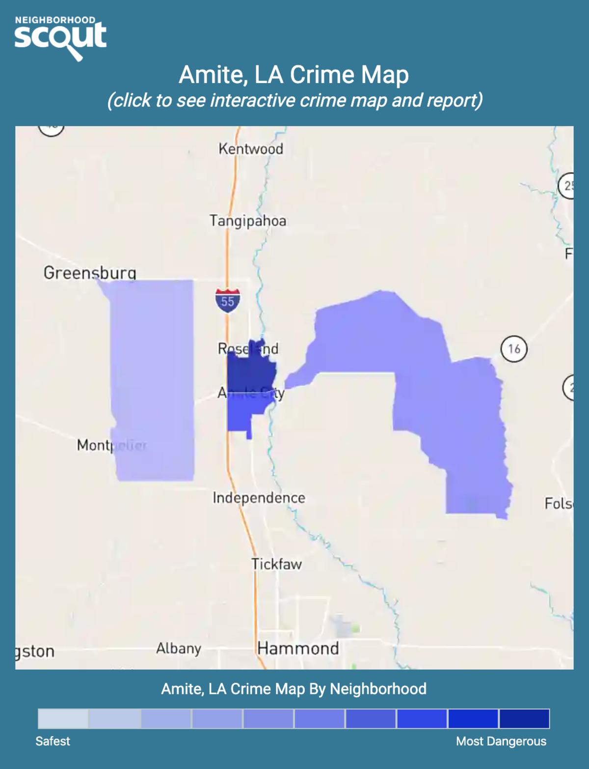 Amite, Louisiana crime map