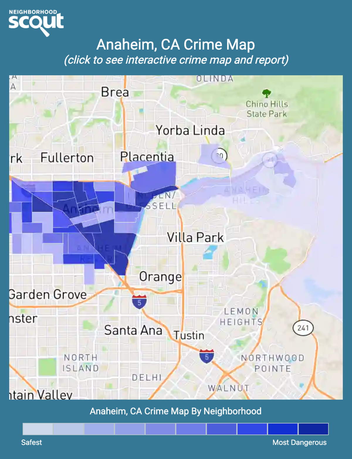 Anaheim, California crime map