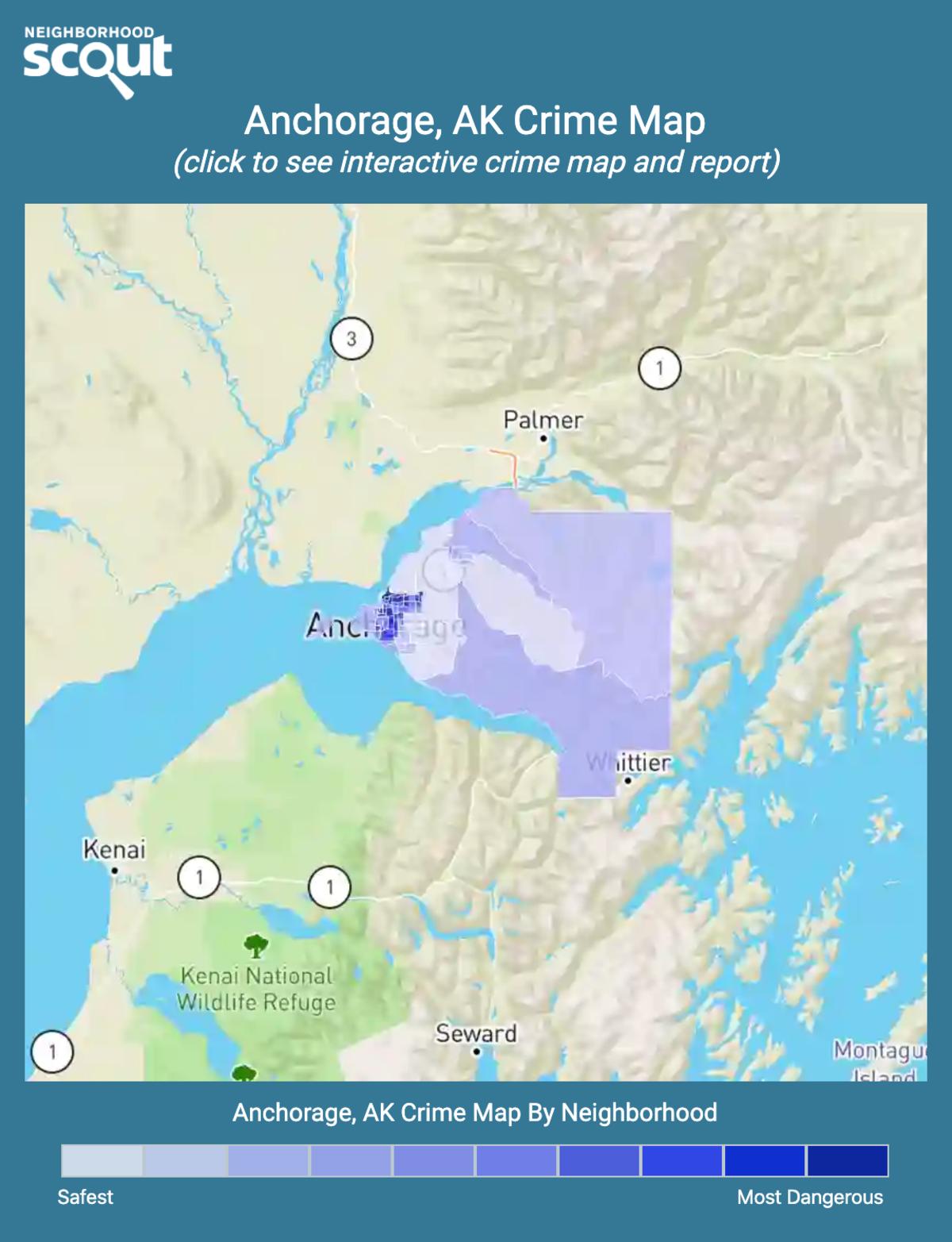 Anchorage, Alaska crime map