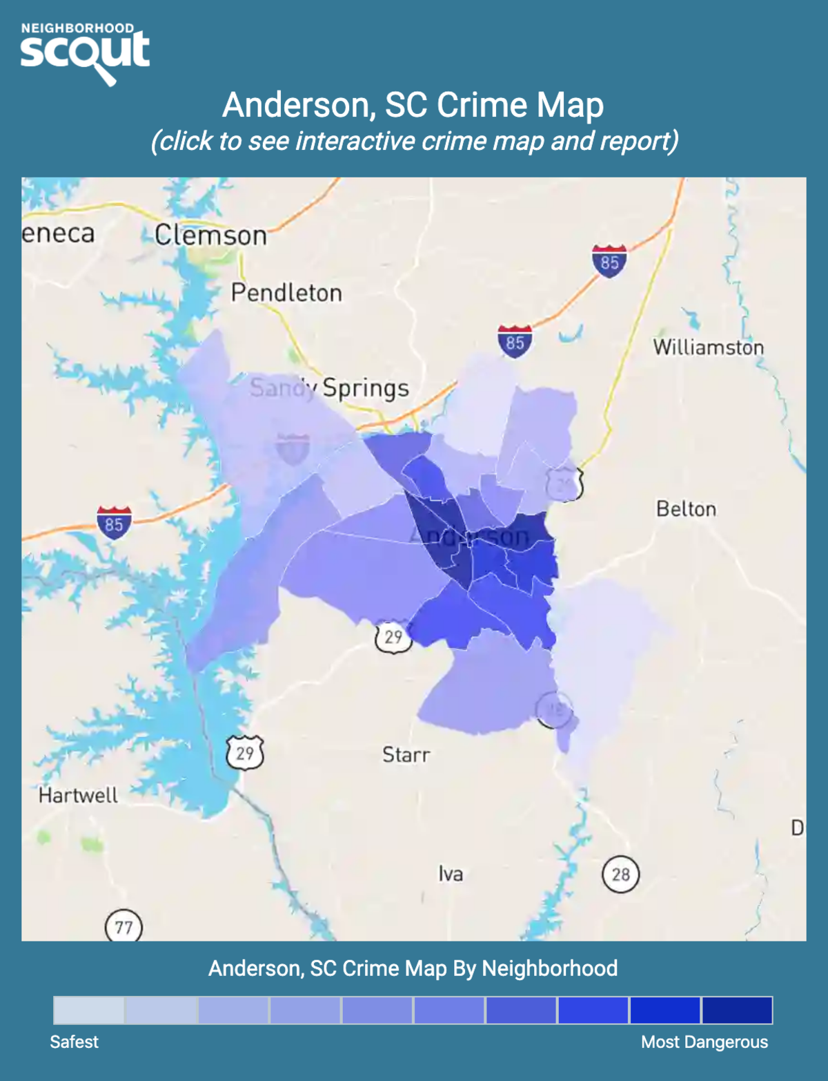Anderson, South Carolina crime map